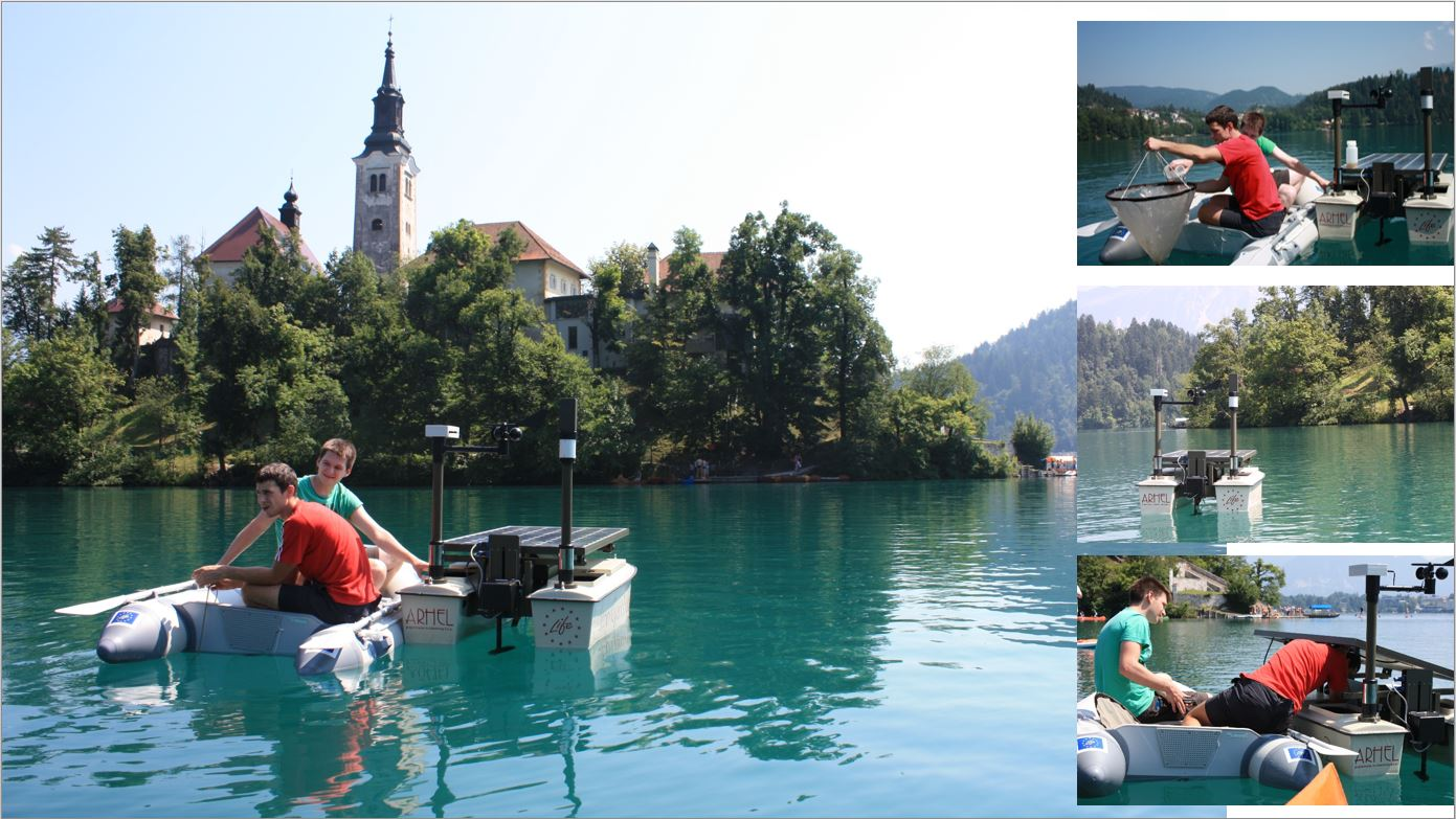Arhel LIFE Stop CyanoBloom July 2015 activities on Lake Bled
