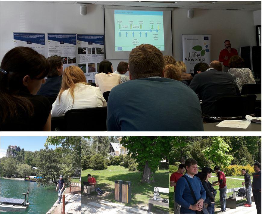 18. maja smo predstavili projekt in delovanje plovila na Bledu