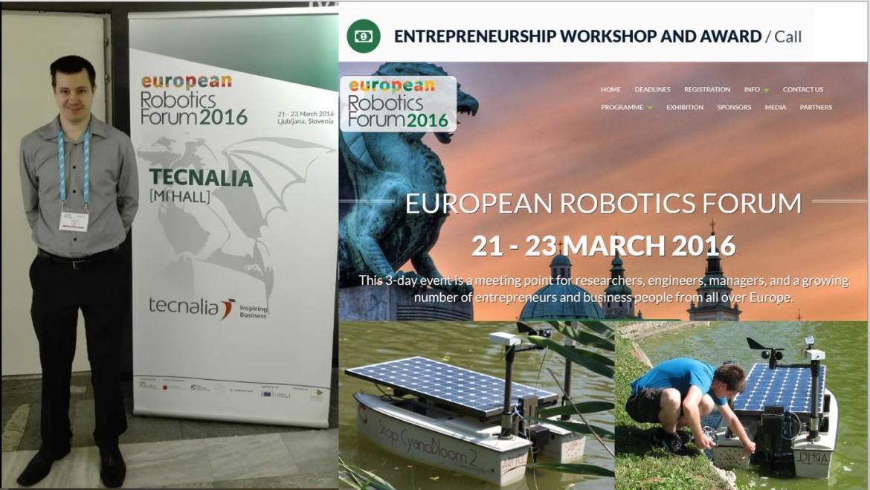 EUROPEAN ROBOTIC FORUM 2016: predstavitev na podjetniški delavnici