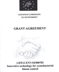 Signing a Grant Agreement of the project LIFE Stop CyanoBloom