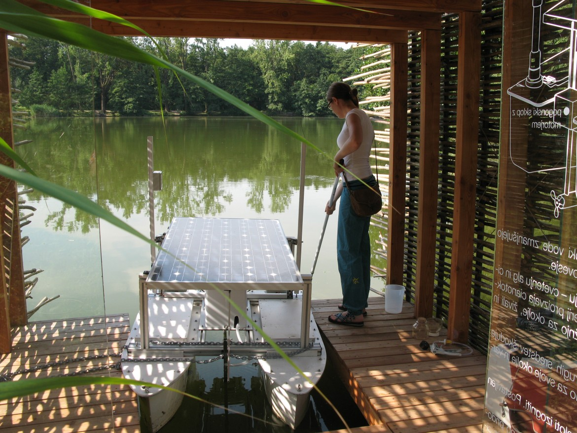Guided tour of Koseze pond boathouse / 4.10.2014, at 12 hour