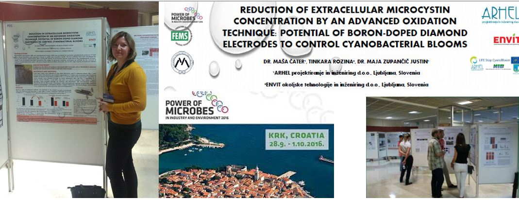 Presentation of the LIFE Stop CyanoBloom project results at the conference Power of microbes in industry and environment 2016, Krk Croatia