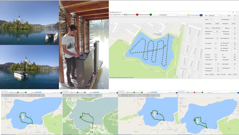 Aktivnosti z robotskim plovilom v poletnem obdobju 2016 opravljene v  okviru projekta LIFE Stop CyanoBloom