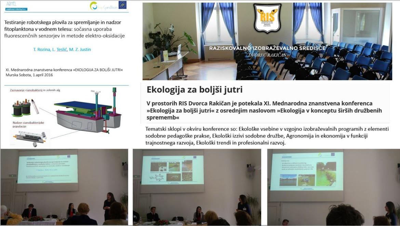 """Predstavitev projektnih aktivnosti na 11. mednarodni konferenci """"Ekologija za boljši jutri"""""""
