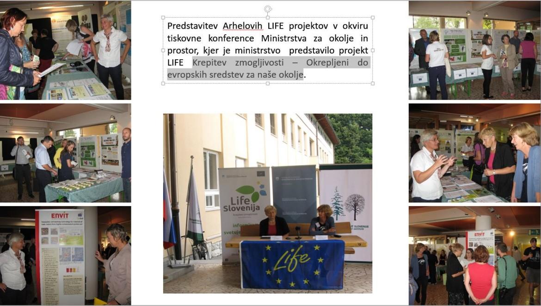 16. september, 2016: Predstavitev treh naših projektov LIFE na tiskovni konferenci Ministrstva za okolje in prostor